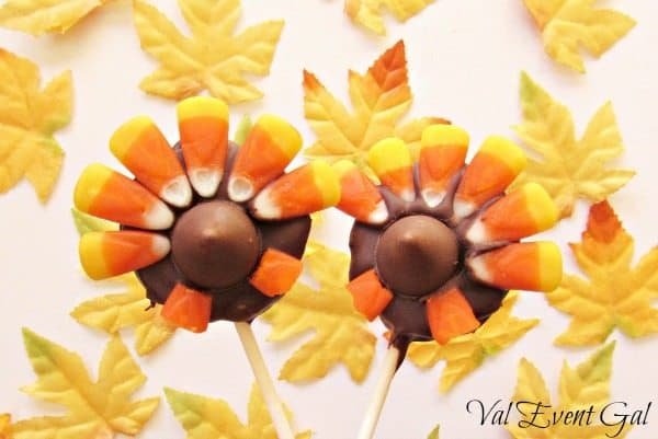 Turkey Tail Oreo Pops for Kids