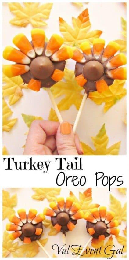 Turkey Tail Oreo Pops