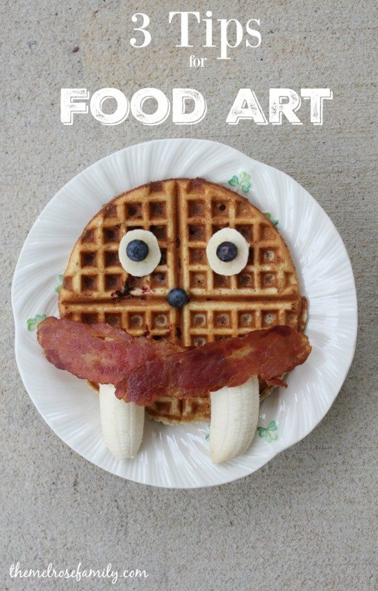 3 Tips for Food Art that will have your kids squealing with delight and you breathing a sigh of relief.