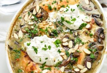 Almond chicken and Mushroom Casserole Meal