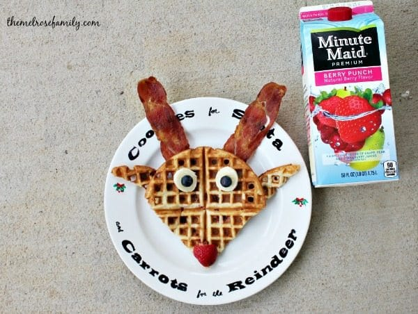 Berry Waffles like Rudolph