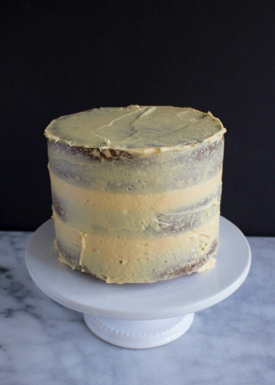 Brown Butter Pumpkin Cake with Caramel Frosting