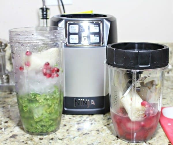Pomegranate Green Smoothie with Ninja