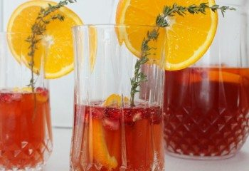 Pomegranate Orange Sangria Cocktail