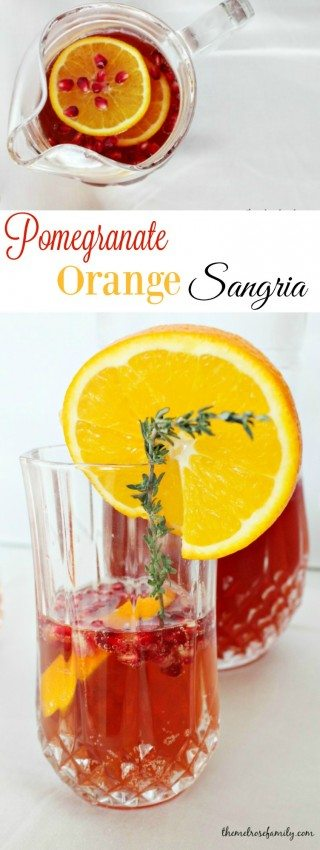 Pomegranate Orange Sangria is the perfect refreshing cocktail