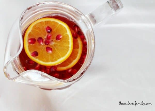 Pomegranate Orange Sangria pitcher