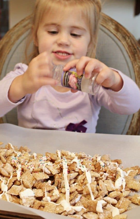 Sugar Cookie Chex Mix with Avery