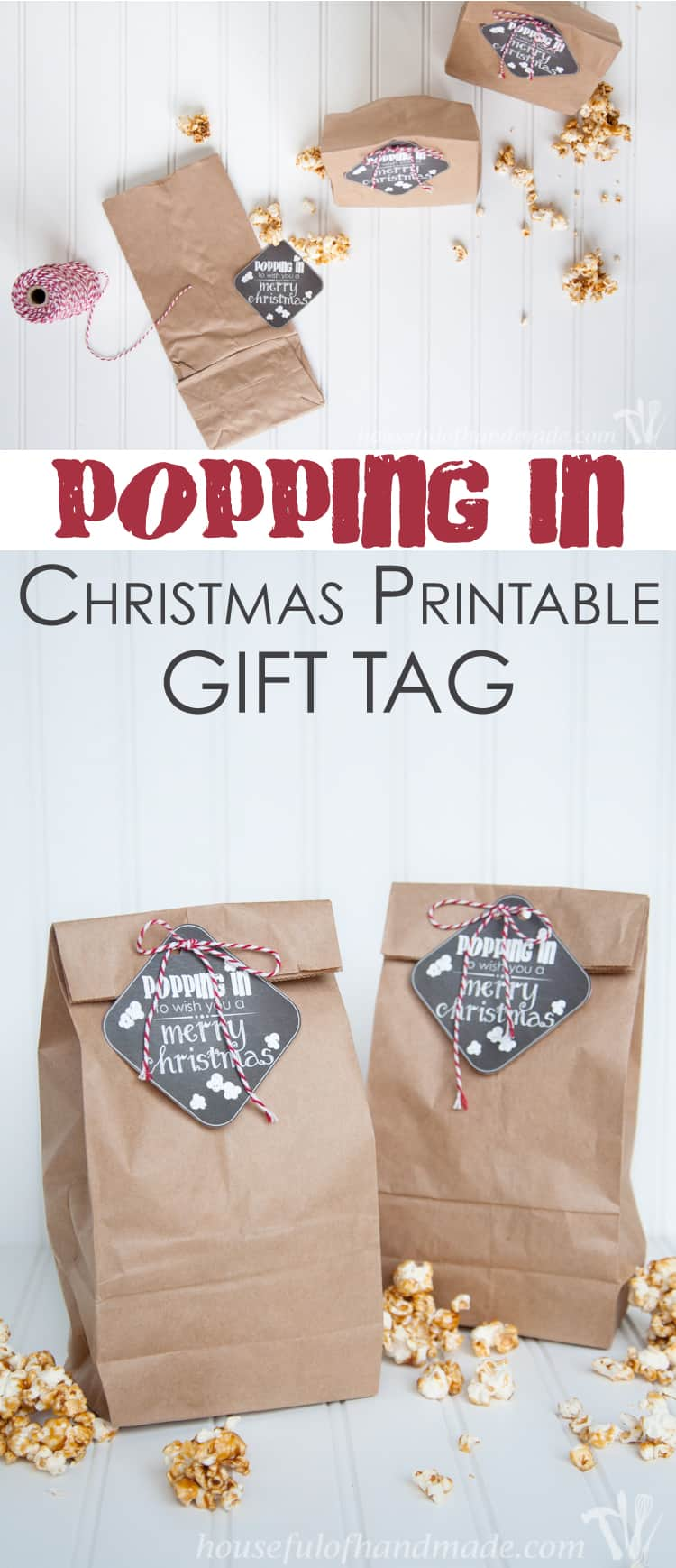 Christmas Printable Gift Tag is the perfect gift idea complete with free printable tags