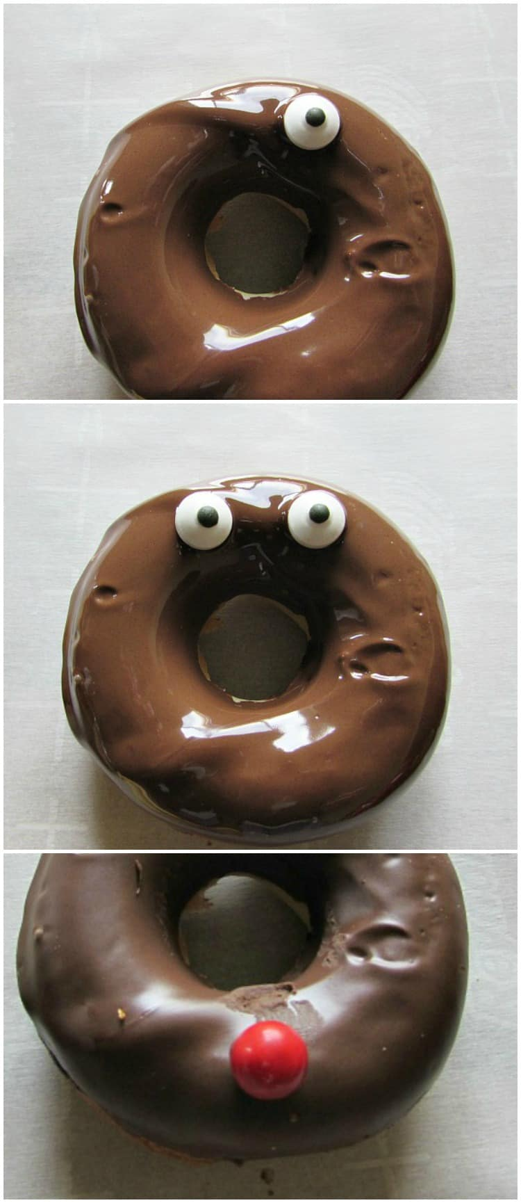 Reindeer Donuts Faces