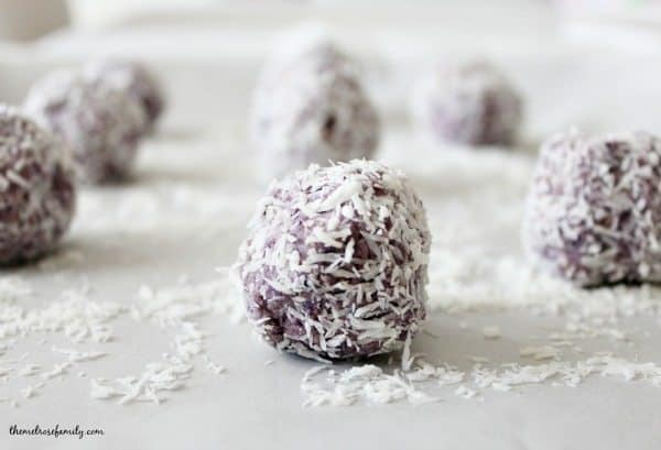 Berry Coconut Rolled Energy Balls