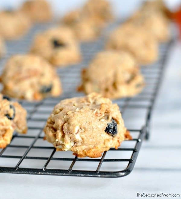 Healthy Trail Mix Cookies with Raisins