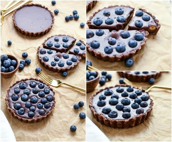 No-Bake Blueberry Chocolate Tart fb