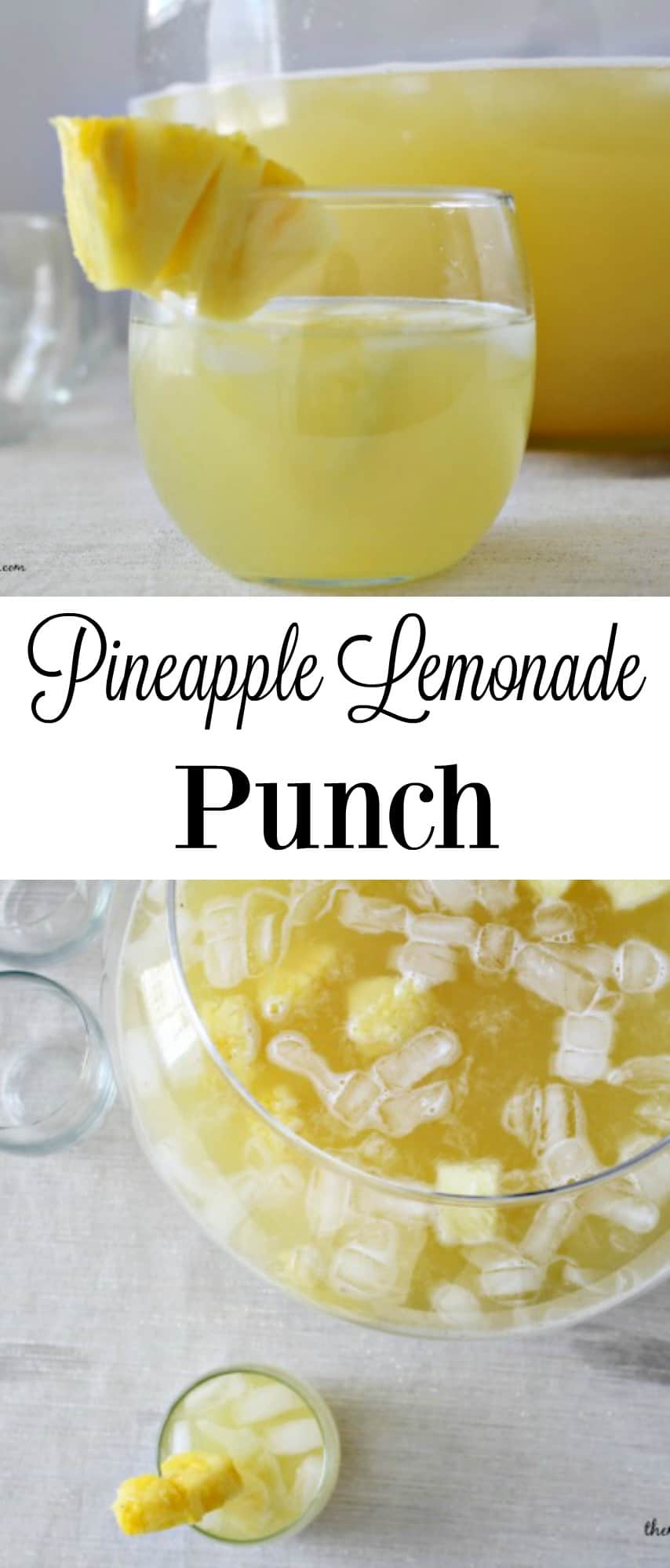 Pineapple Lemonade Punch #beverage #lemonade #themelrosefamily