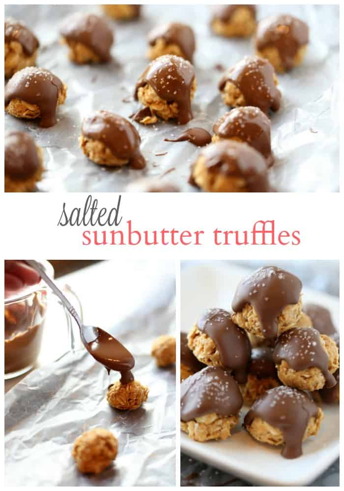 Salted SunButter Truffles are the perfect healthy snack
