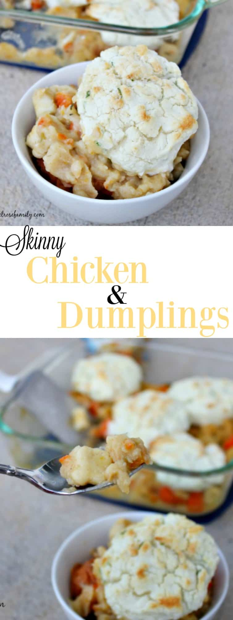 Skinny Chicken & Dumplings are the perfect comfort food that come together in a snap.