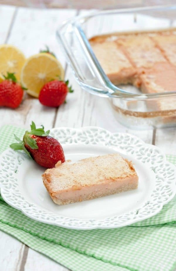 Strawberry Lemon Bars Healthy Dessert