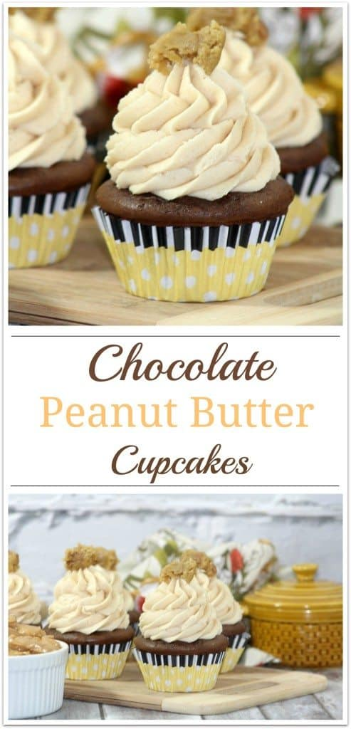 Chocolate Peanut Butter Cupcakes by Virtually Yours