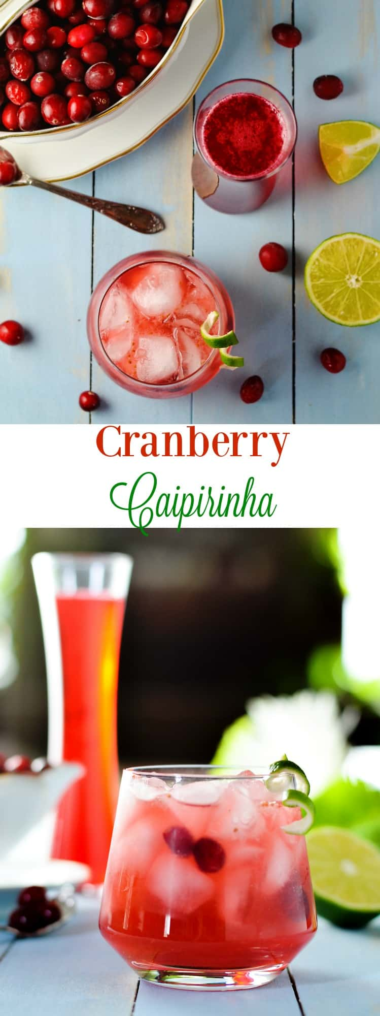 Cranberry Caipirinha is the ultimate winter refreshing cocktail.