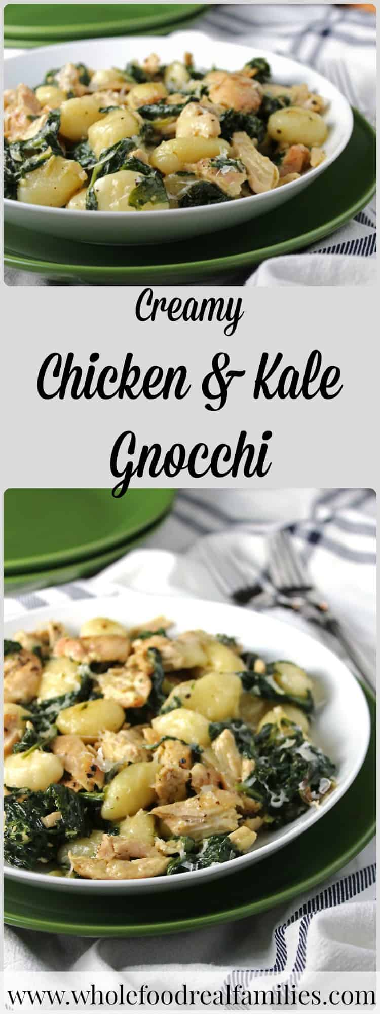 Creamy Chicken & Kale Gnocchi is a family favorite recipe that is sure to become your family's favorite too.