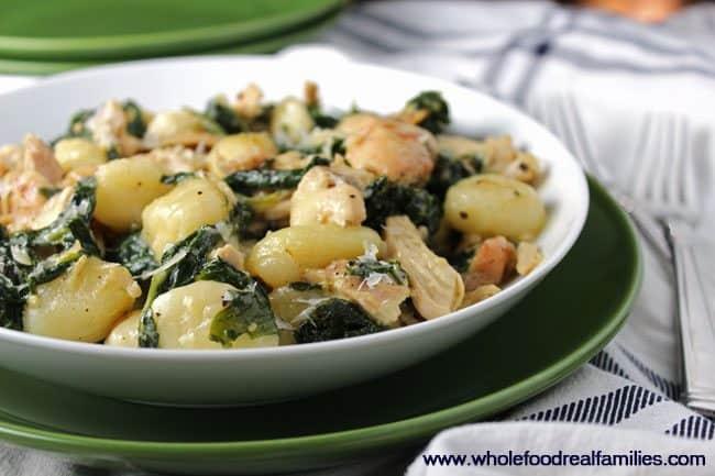 Creamy Chicken & Kale Gnocchi