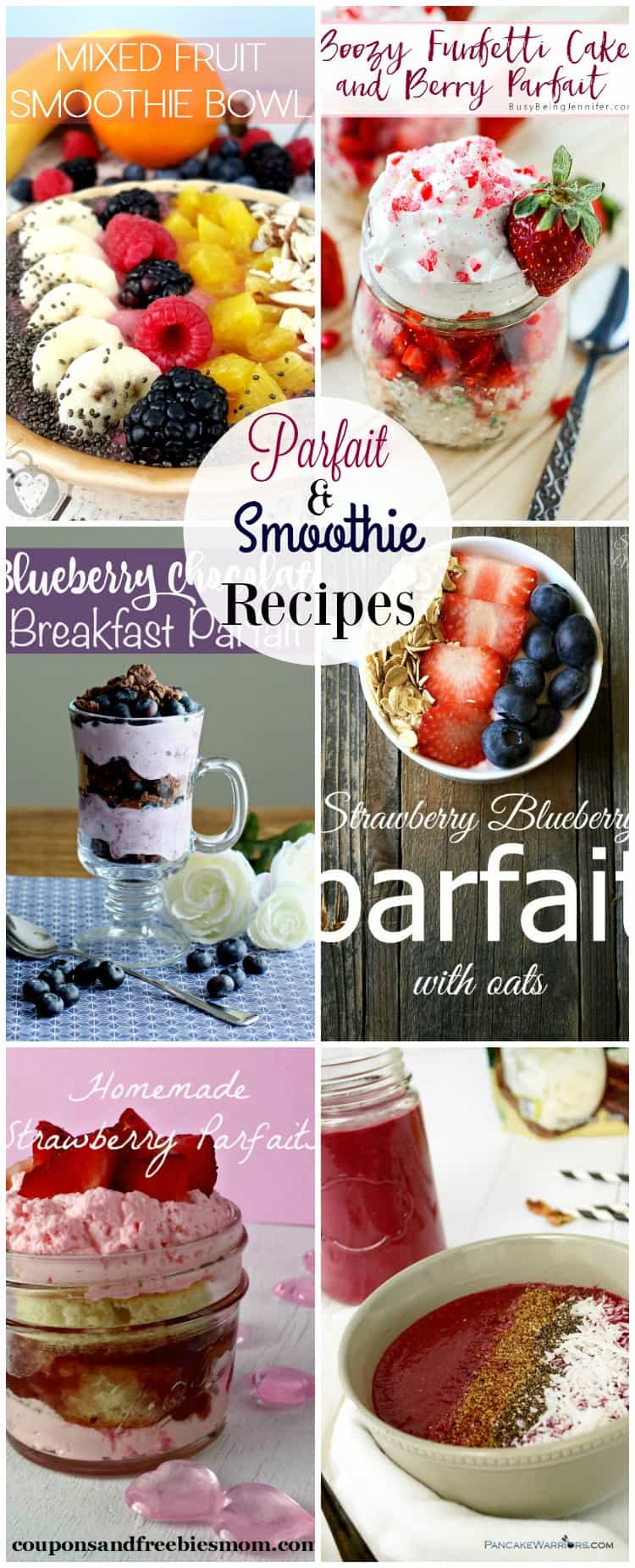 Parfait & Smoothie Recipes make the perfect afternoon snack packed with healthy ingredients.