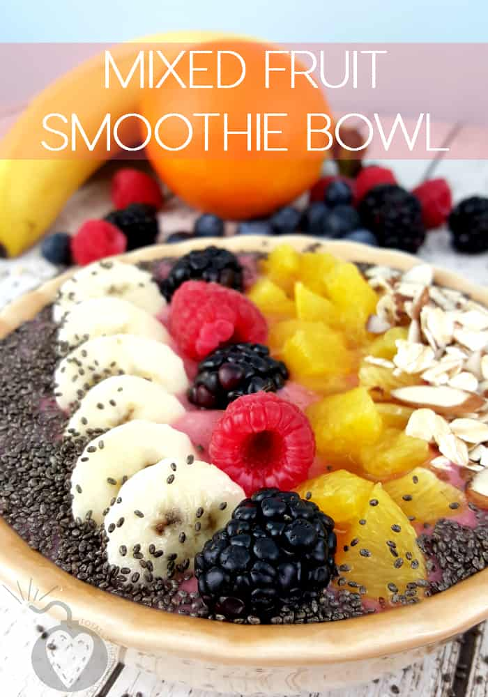 Mixed Fruit Smoothie Bowl by Totally the Bomb