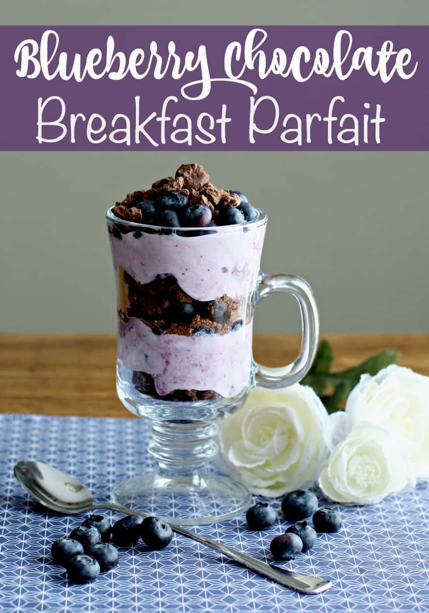Blueberry Chocolate Breakfast Parfait by This Mama Loves