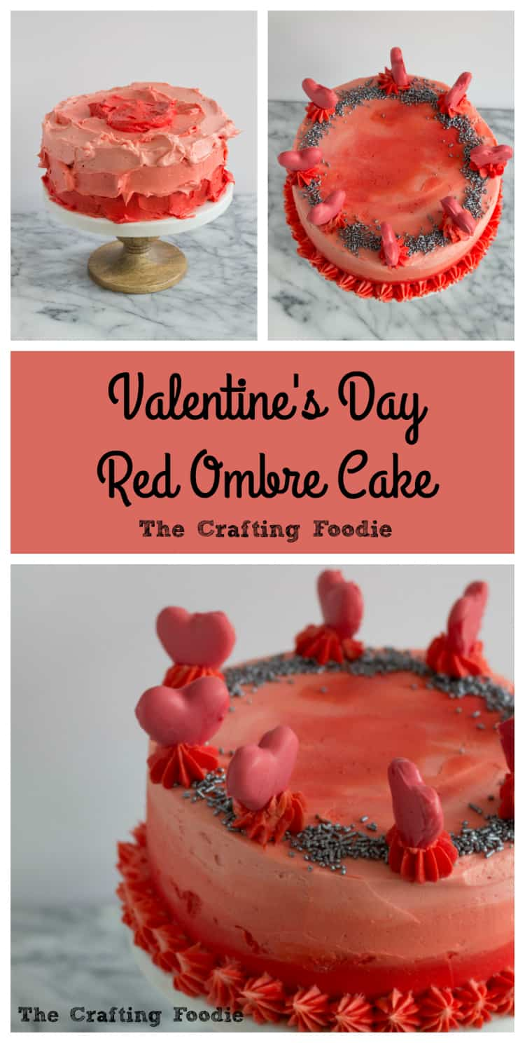 Valentine's Day Red Ombre Cake is the perfect dessert to celebrate the one you love.