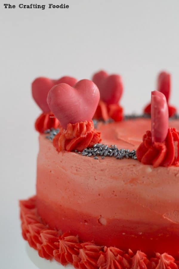 Valentine's Day Red Ombre Cake