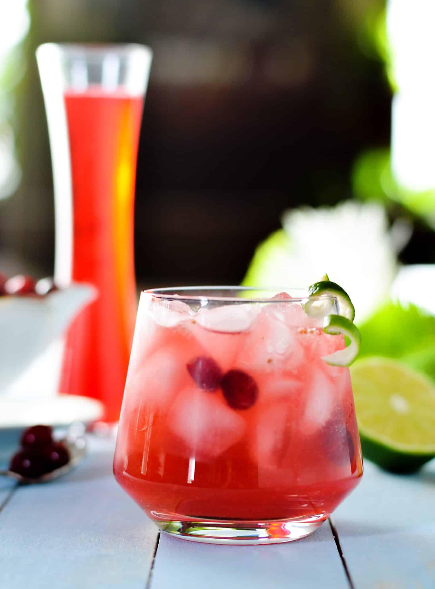 Cranberry Caipirinha Winter Cocktail