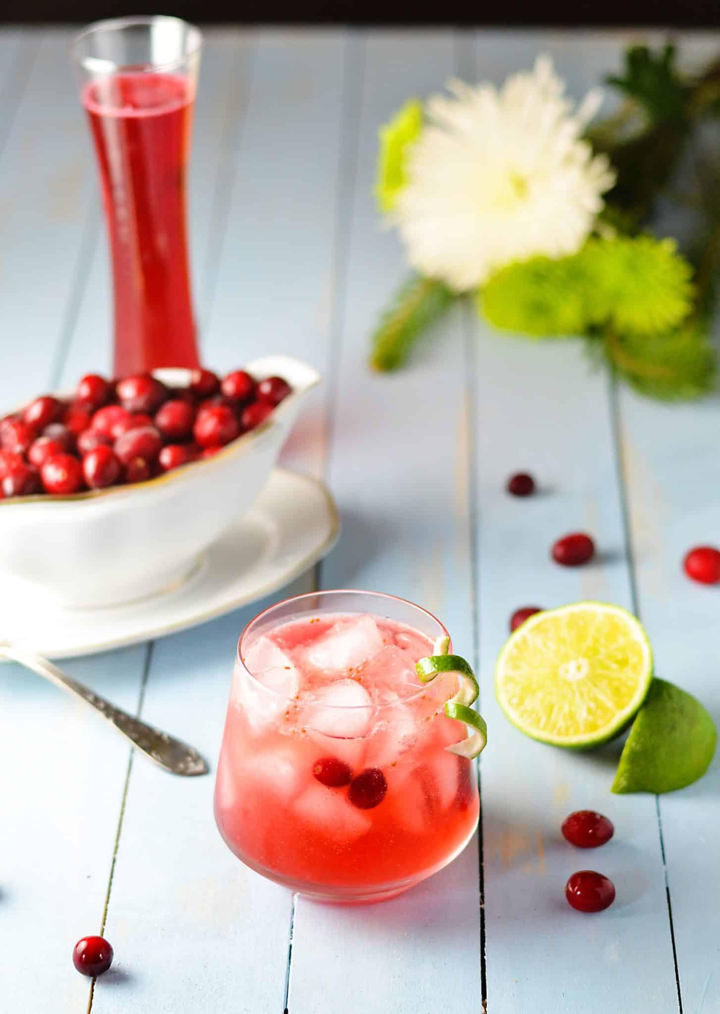 Cranberry Caipirinha Cocktail