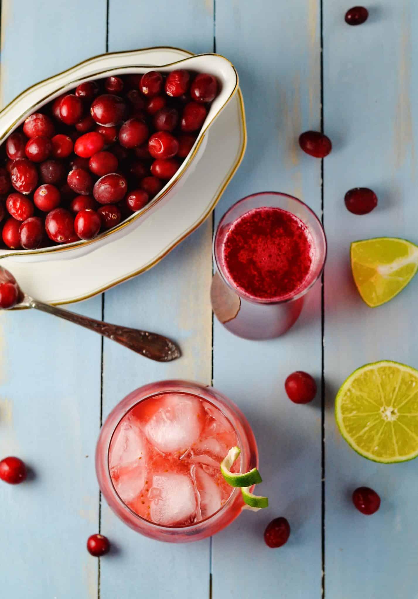 Cranberry Caipirinha Winter Brazilian Cocktail