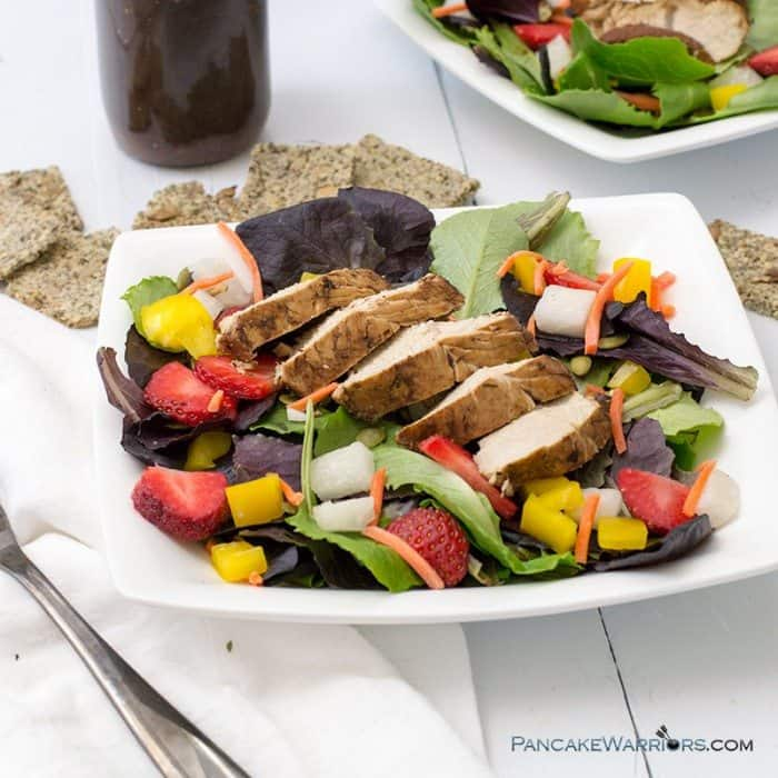 Balsamic Chicken Strawberry Salad