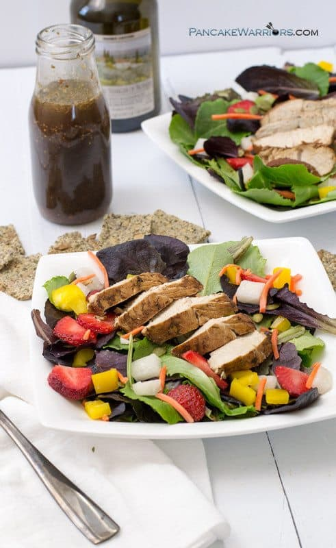 Balsamic Chicken Strawberry Salad dinner idea