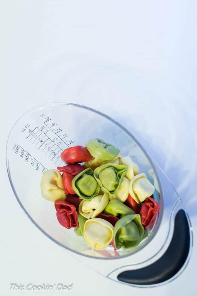 Chicken and Spinach Tortellini measured