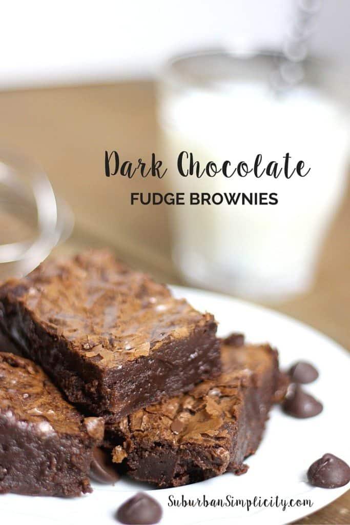 Dark Chocolate Fudge Brownies Homemade