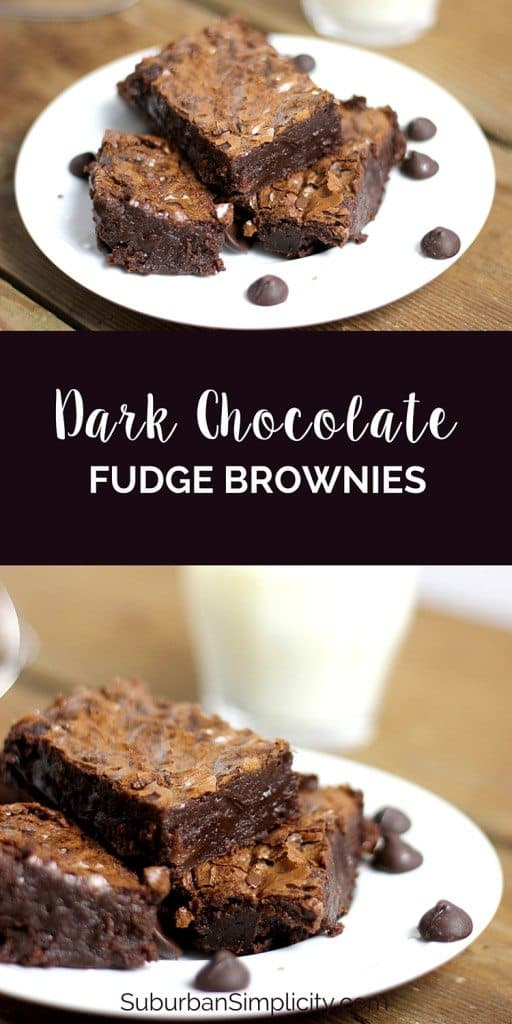 Do you crave dark chocolate? Then these Dark Chocolate Fudge Brownies are going to rock your dessert eating world.