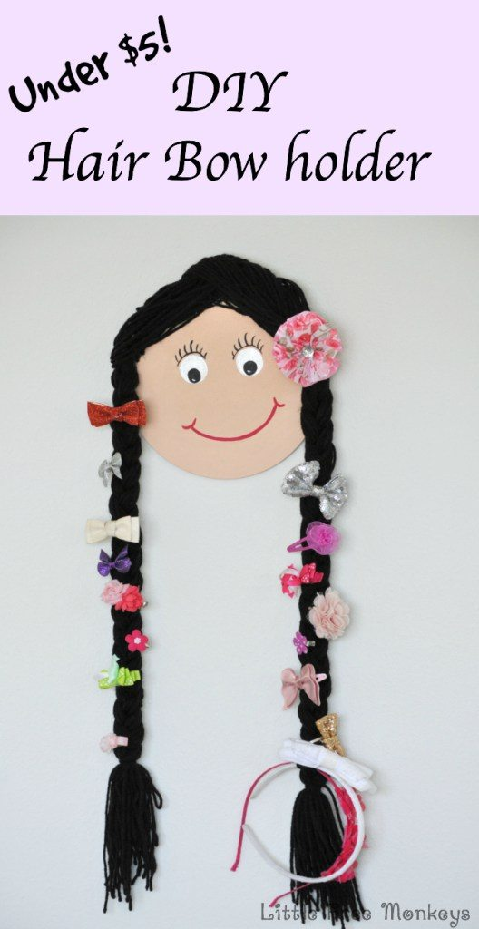 Doll Face Bow Holder by Little Free Monkeys