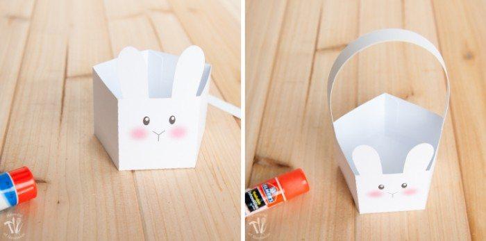 Free Printable Bunny Basket Construction