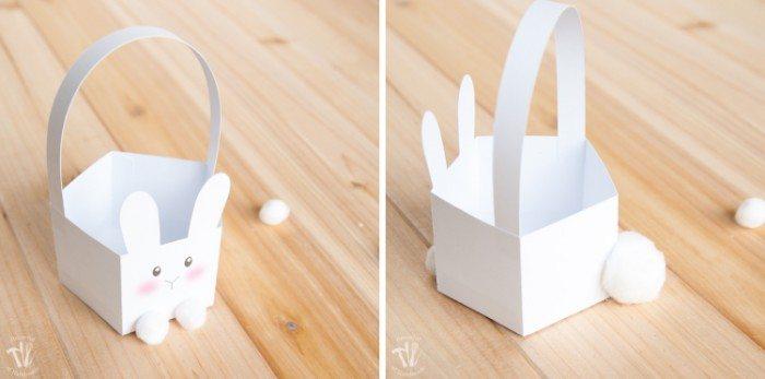 Free Printable Bunny Basket with Tail
