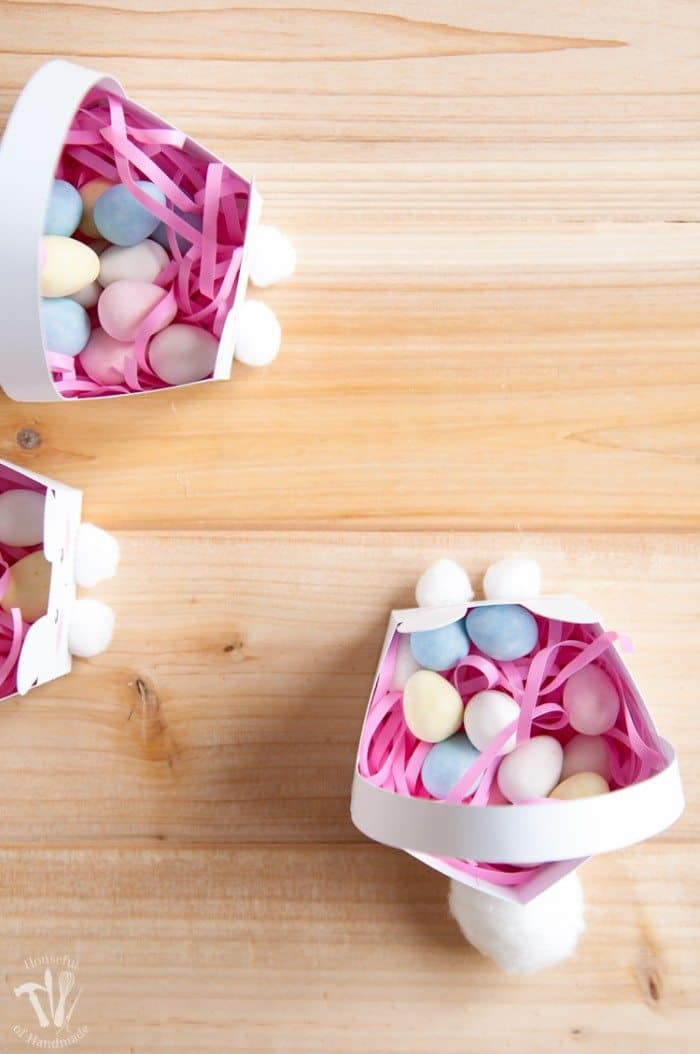 Free Printable Bunny Baskets Filled