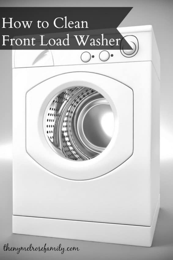 how to clean he front load washer