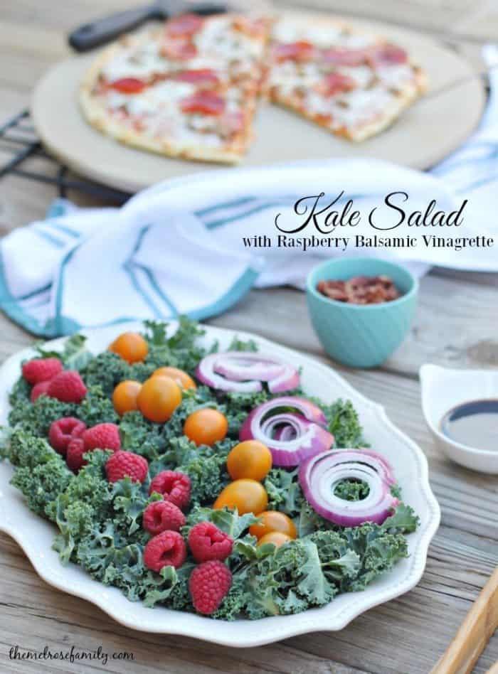 Kale Salad with Raspberry Balsamic Vinagrette