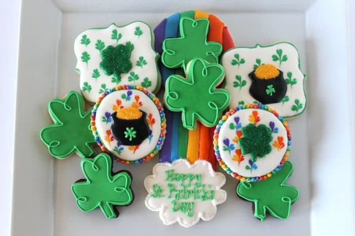 St. Patrick's Day Cookies with Icing