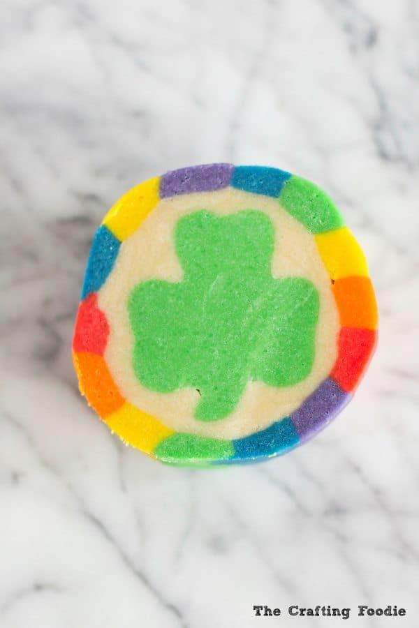 St. Patrick's Day Rainbow Shamrock Cookies