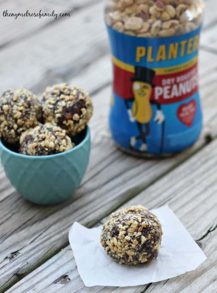 Chocolate Crunch Peanut Butter Energy Balls with Planters Peanuts