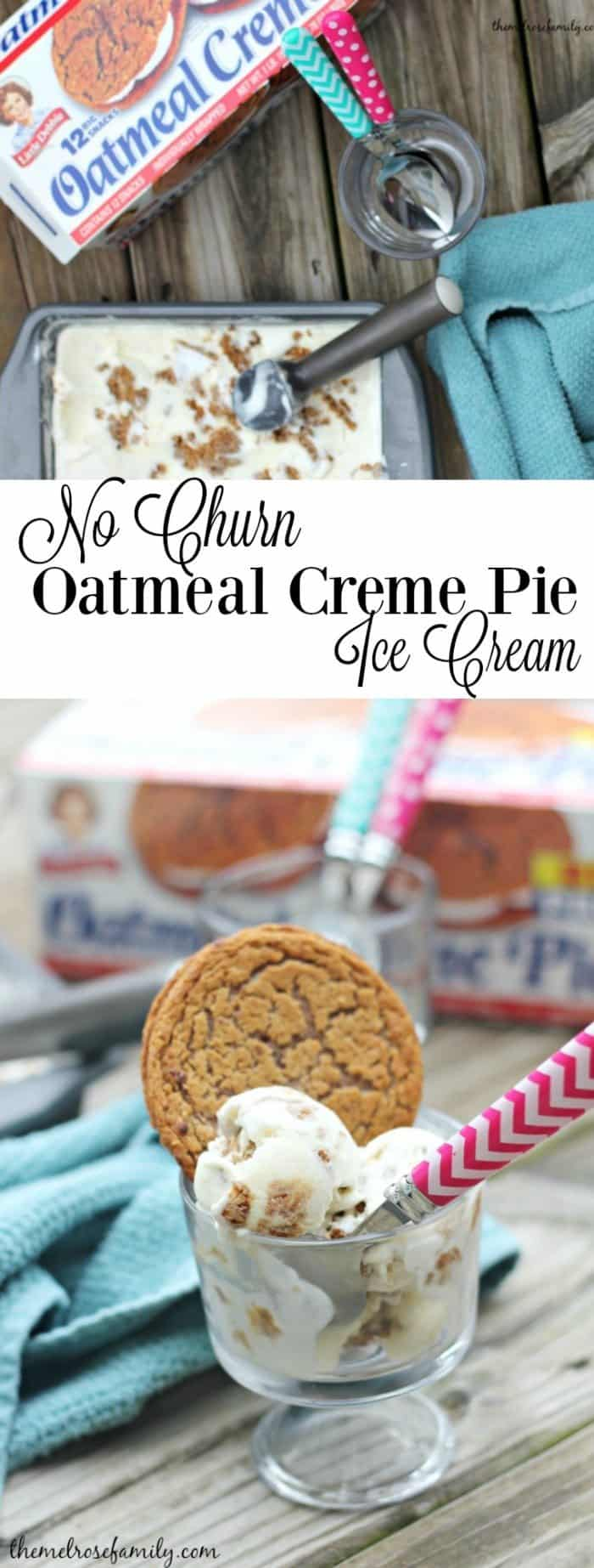 Are you looking for the perfect ice cream? Don't look any further because this no churn oatmeal creme pie ice cream is going to knock your socks off.