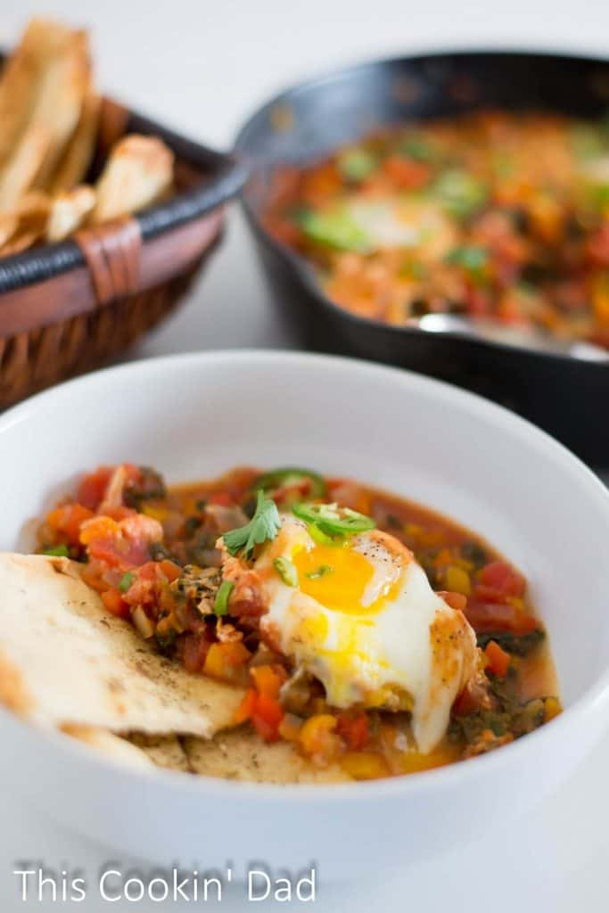 Pepper and Kale Shakshuka brunch
