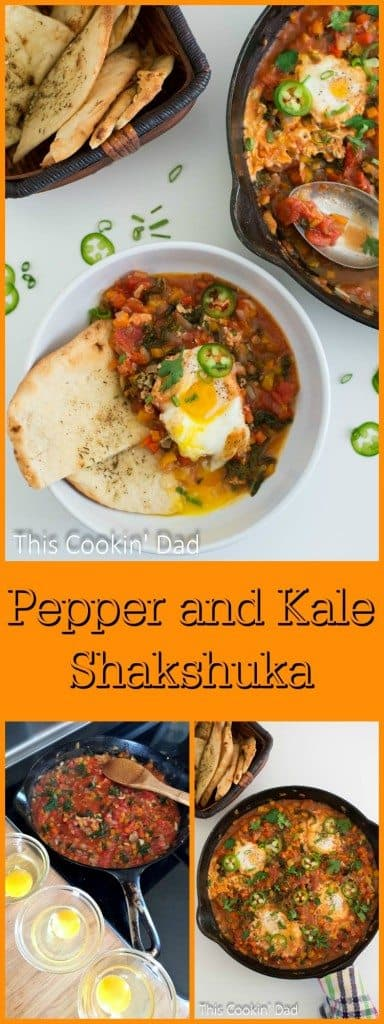 In need of the perfect breakfast idea that's full of flavor? This Pepper and Kale Shakshuka is a recipe that everyone love.