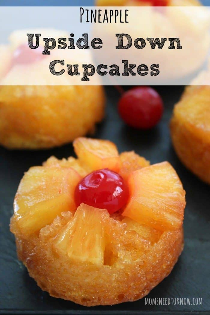 Pineapple Upside Down Cupcakes by Moms Need to Know